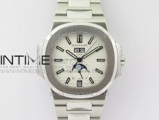 Nautilus 5726 Full Function SS PPF 1:1 Best Edition White Dial on SS Bracelet A324