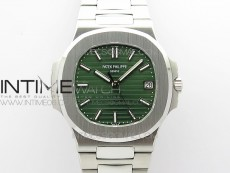 Nautilus 5711/1A 3KF 1:1 Best Edition Green Textured Dial on SS Bracelet A324 Super Clone V2