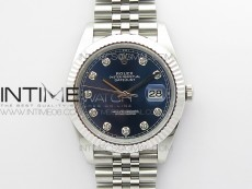 DateJust 41 126334 904 SS ARF 1:1 Best Edition Blue Dial Crystal Markers on Jubilee Bracelet A2824 V3