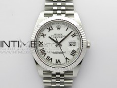 DateJust 41 126334 904 SS ARF 1:1 Best Edition White Dial Roman Markers on Jubilee Bracelet A2824 V3