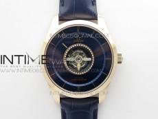 De Ville Tourbillon RG MIF Best Edition Blue Dial on Blue Leather Strap