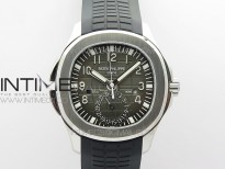 Aquanaut 5164A SS ZF 1:1 Best Edition Black Dial on Black Rubber Strap A324