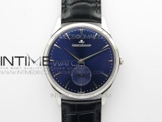 Master Ultra Thin Small Second SS ZF 1:1 Best Edition Blue Dial on Black Leather Strap A896
