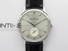 Master Ultra Thin Small Second SS ZF 1:1 Best Edition Silver Dial on Black Leather Strap A896