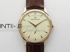 Master Ultra Thin Small Second RG ZF 1:1 Best Edition White Dial on Brown Leather Strap A896