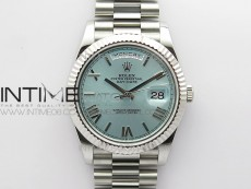 Day Date 40mm SS BP 1:1 Best Edition Silver Roman Dial on SS Bracelet A2836