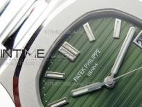 Nautilus 5711/1A PPF 1:1 Best Edition Green Textured Dial on SS Bracelet 324CS V4
