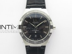 Constellation 131.33.41.21.03.001 SS TW Best Edition Black Dial On Black Gummy Strap A8500