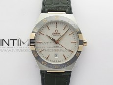 Constellation 131.33.41.21.03.001 SS/RG TW Best Edition White Dial On Black Gummy Strap A8500