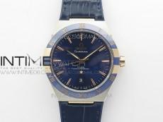 Constellation 131.33.41.21.03.001 SS/RG TW Best Edition Blue Dial On Blue Gummy Strap A8500