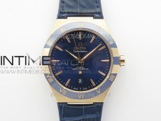 Constellation 131.33.41.21.03.001 RG TW Best Edition Blue Dial On Blue Gummy Strap A8500