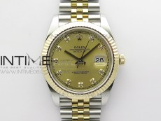 DateJust 41 126333 Wrapped SS/YG ARF 1:1 Best Edition YG Dial Crystal Markers on Wrapped SS/YG Jubilee Bracelet A3235