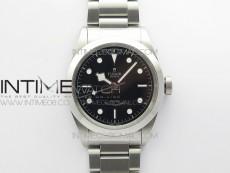Black Bay 41 SS LF 1:1 Best Edition Black Dial on SS Bracelet A2824