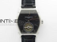 Malte Tourbillon SS VCR Best Edition Black Dial on Black Croco Leather Strap