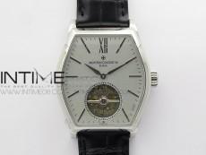 Malte Tourbillon SS VCR Best Edition Gray Dial on Black Croco Leather Strap