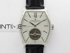 Malte Tourbillon SS VCR Best Edition White Dial on Black Croco Leather Strap