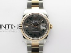 DateJust 36 SS/RG 126231 BP 1:1 Best Edition Gray Dial on Oyster Bracelet