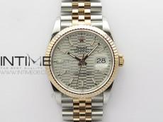 DateJust 36 SS/RG 126231 BP 1:1 Best Edition Silevr Dial on Oyster Bracelet