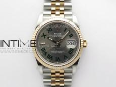 DateJust 36 SS/RG 126231 BP 1:1 Best Edition Gray Dial on Jubilee Bracelet