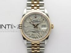 DateJust 36 SS/RG 126231 BP 1:1 Best Edition Silevr/Gray Dial on Jubilee Bracelet