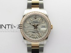 DateJust 36 SS/RG 126281 BP 1:1 Best Edition Silver/Gray Dial on Oyster Bracelet