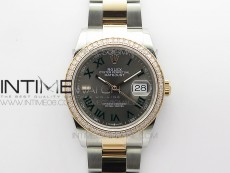 DateJust 36 SS/RG 126281 BP 1:1 Best Edition Gray Dial on Oyster Bracelet