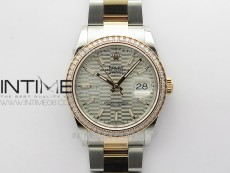 DateJust 36 SS/RG 126281 BP 1:1 Best Edition Silver Dial on Oyster Bracelet