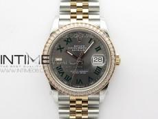 DateJust 36 SS/RG 126281 BP 1:1 Best Edition Gray Dial on Jubilee Bracelet