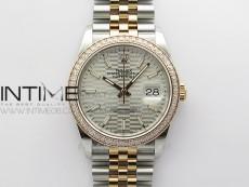 DateJust 36 SS/RG 126281 BP 1:1 Best Edition Silver Dial on Jubilee Bracelet