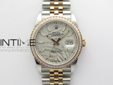 DateJust 36 SS/RG 126281 BP 1:1 Best Edition Silver/Gray Dial on Jubilee Bracelet