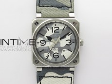 BR 03-92 SS 1:1 Best Edition Gray Camouflage Apes Dial on Camouflage Nylon Strap MIYOTA 9015 V3