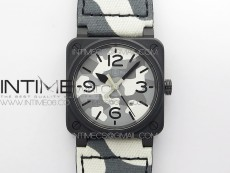 BR 03-92 DLC 1:1 Best Edition Gray Camouflage Apes Dial on Camouflage Nylon Strap MIYOTA 9015 V3