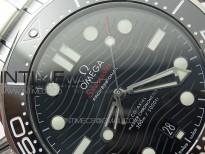 Seamaster Diver 300M ORF 1:1 Best Edition Black Ceramic Black Dial on SS Bracelet A8800 (Free Rubber Strap)