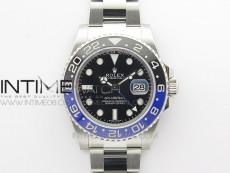 GMT Master II 116710 BLNR 904L SS Clean Factory 1:1 Best Edition on Oyster Bracelet VR3186 CHS