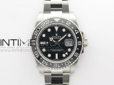 GMT Master II 116710 LN 904L SS Clean Factory 1:1 Best Edition on Oyster Bracelet VR3186 CHS