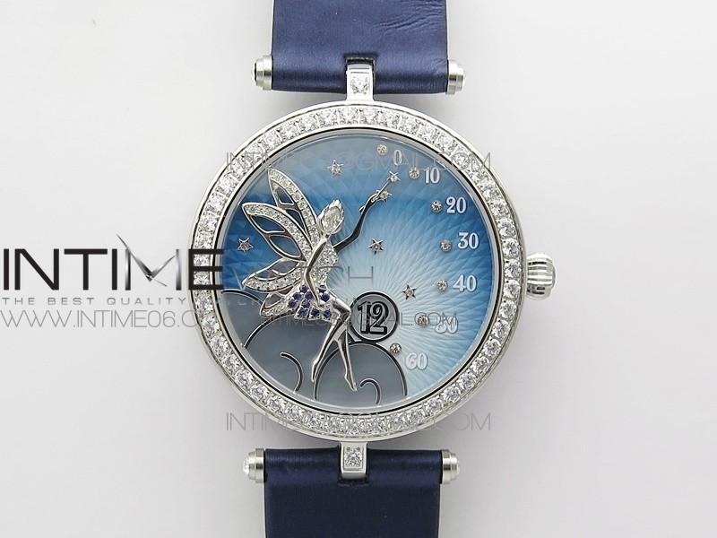 Lady Féerie Paved Diamonds Bezel 5G Best Edition Blue Dial Quartz