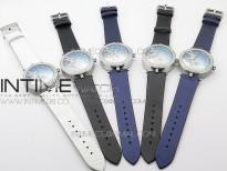 Lady F¨¦erie Paved Diamonds Bezel 5G Best Edition Blue Dial Quartz