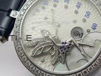 Lady F¨¦erie Paved Diamonds Bezel 5G Best Edition White Dial Quartz