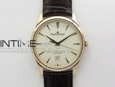 Master 1238420 RG ZF 1:1 Best Edition Ivory White Dial on Brown Leather Strap A899/1