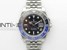 GMT-Master II 126710 Black/Blue Ceramic Bezel 904L SS GMF 1:1 Best Edition Black Dial on 904L Jubilee Bracelet A3285