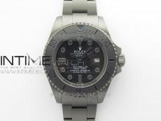 Sea-Dweller 116660 DLC VRF 1:1 Best Edition Black Dial on SS Bracelet A2836