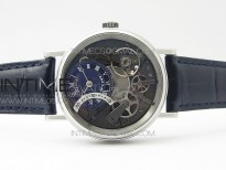 Tradition 7097BB/GY/9WU SS Real PR SF 1:1 Best Edition Blue Skeleton Dial on Blue Leather Strap A505