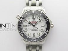 Seamaster Diver 300M ORF 1:1 Best Edition Black Ceramic White Dial on SS Bracelet A8800 V2(Free Rubber Strap)