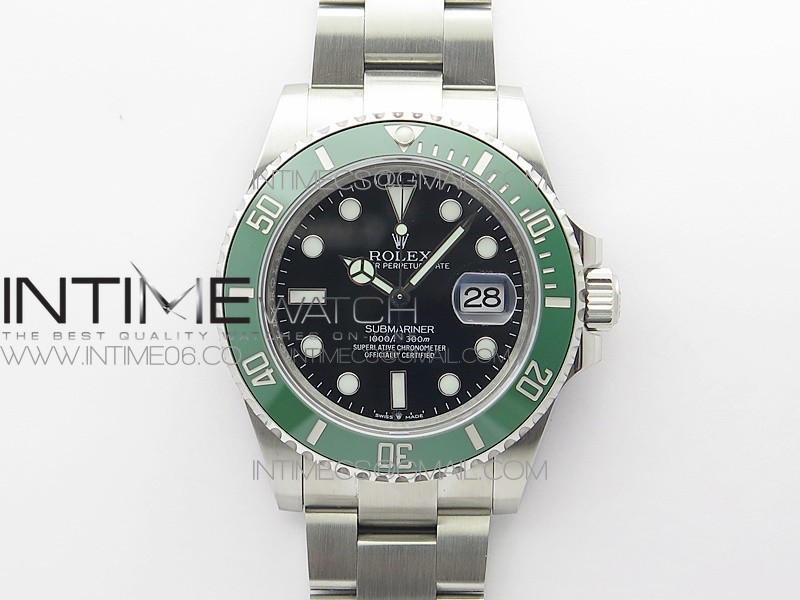 Submariner 41mm 126610 LV CF Green Ceramic Bezel 904L 3EF 1:1 Best Edition Black Dial On Oyster Bracelet SA3235