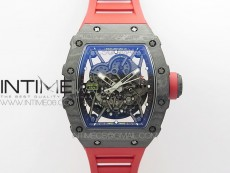 RM035-02 Real NTPT ZF All in One movement 1:1 Best Edition Skeleton Dial on Red Rubber Strap V4