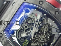RM035-02 Real NTPT ZF All in One movement 1:1 Best Edition Skeleton Dial on Black Rubber Strap V4
