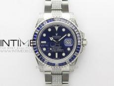 Submariner Blue Diamonds Bezel 904L D1F 1:1 Best Edition Blue Dial On Diamonds Oyster Bracelet A2836